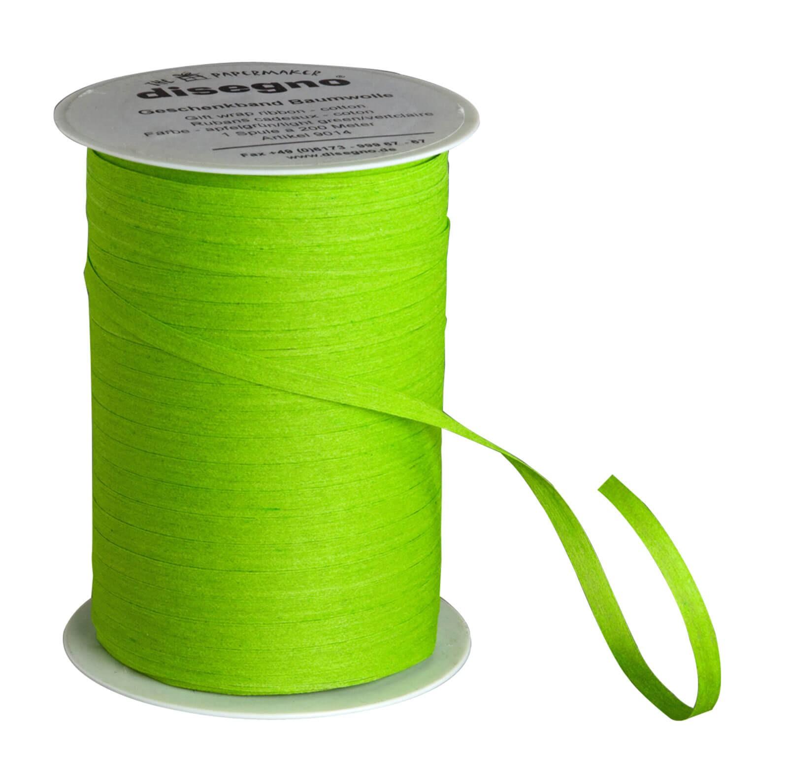 Geschenkband Baumwolle - apfelgrün
