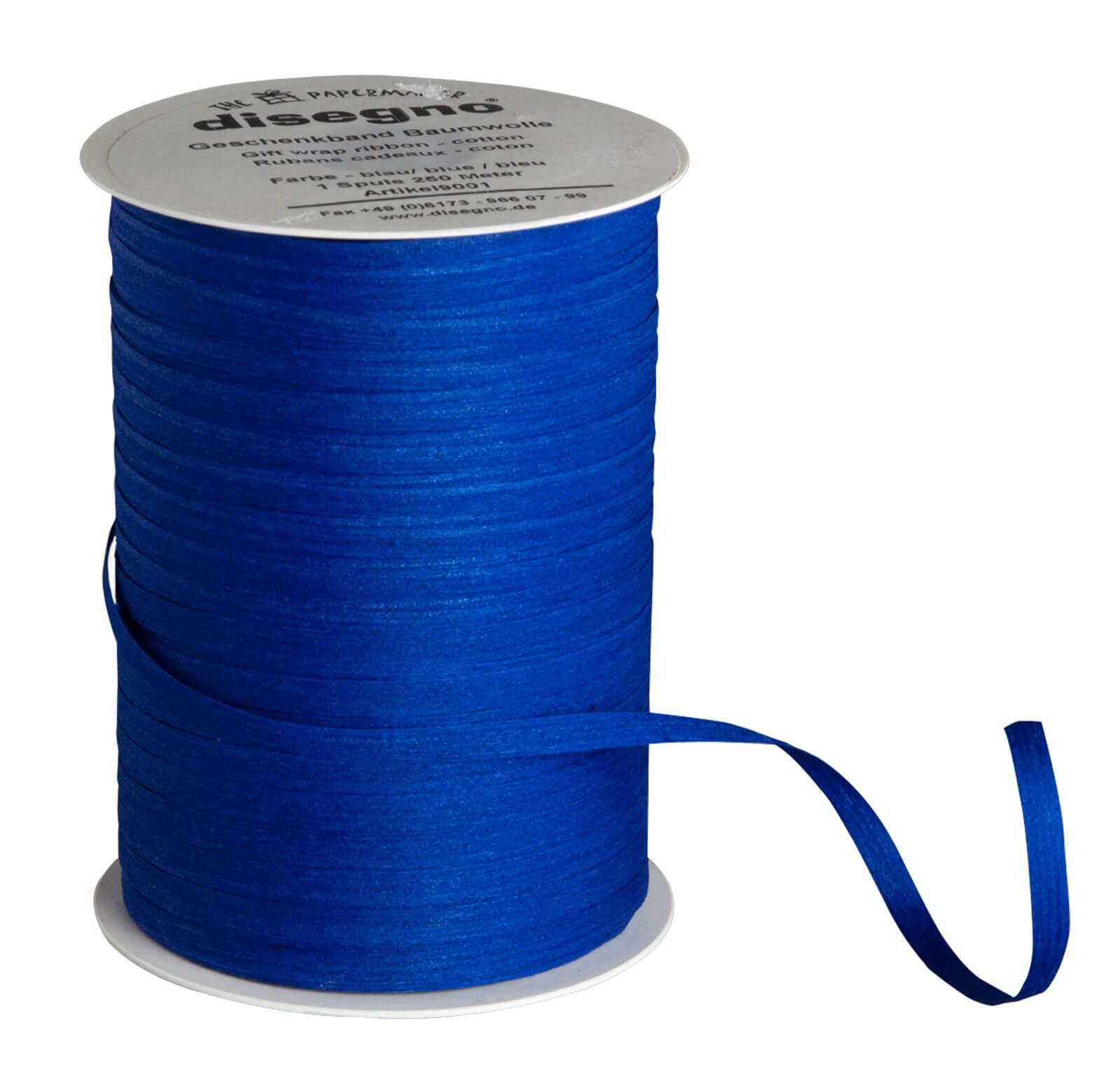 Geschenkband Baumwolle blau