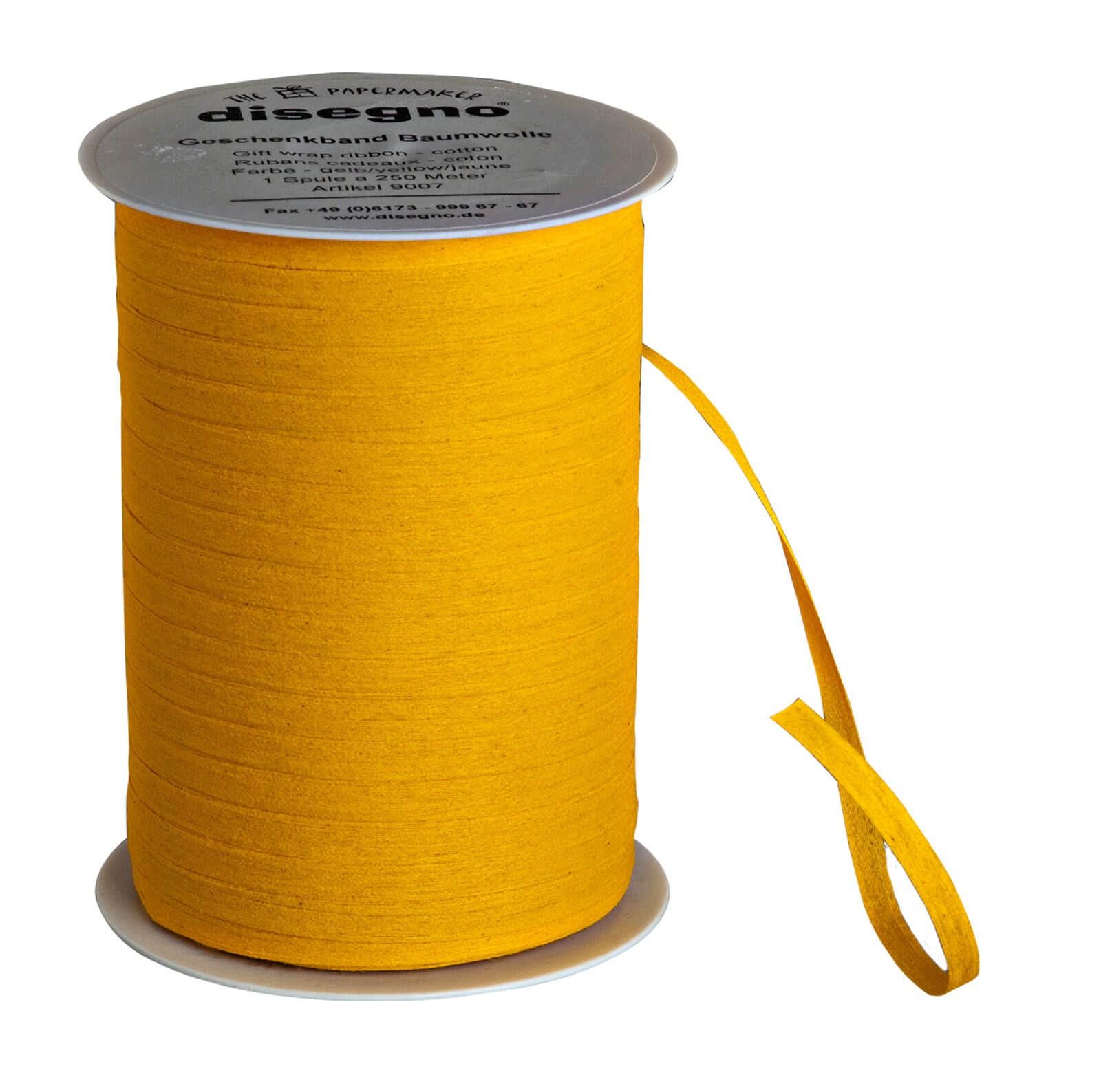 Geschenkband Baumwolle - gelb