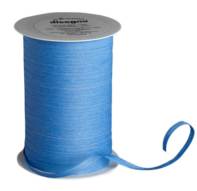 Geschenkband Baumwolle hell-blau