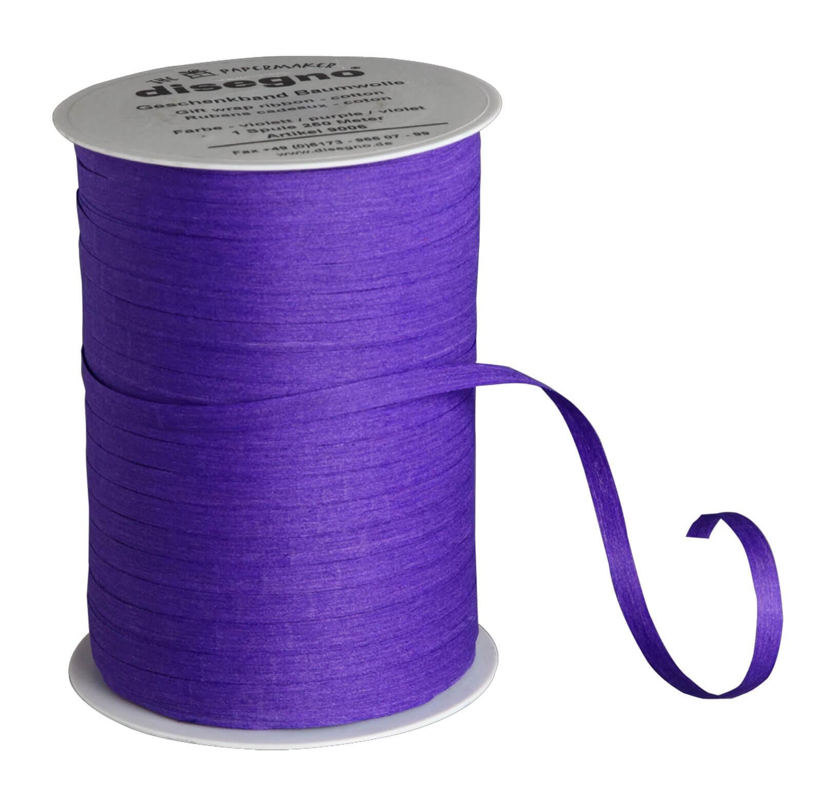 Geschenkband Baumwolle violett