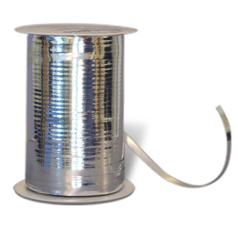 Geschenkband Metallic silber
