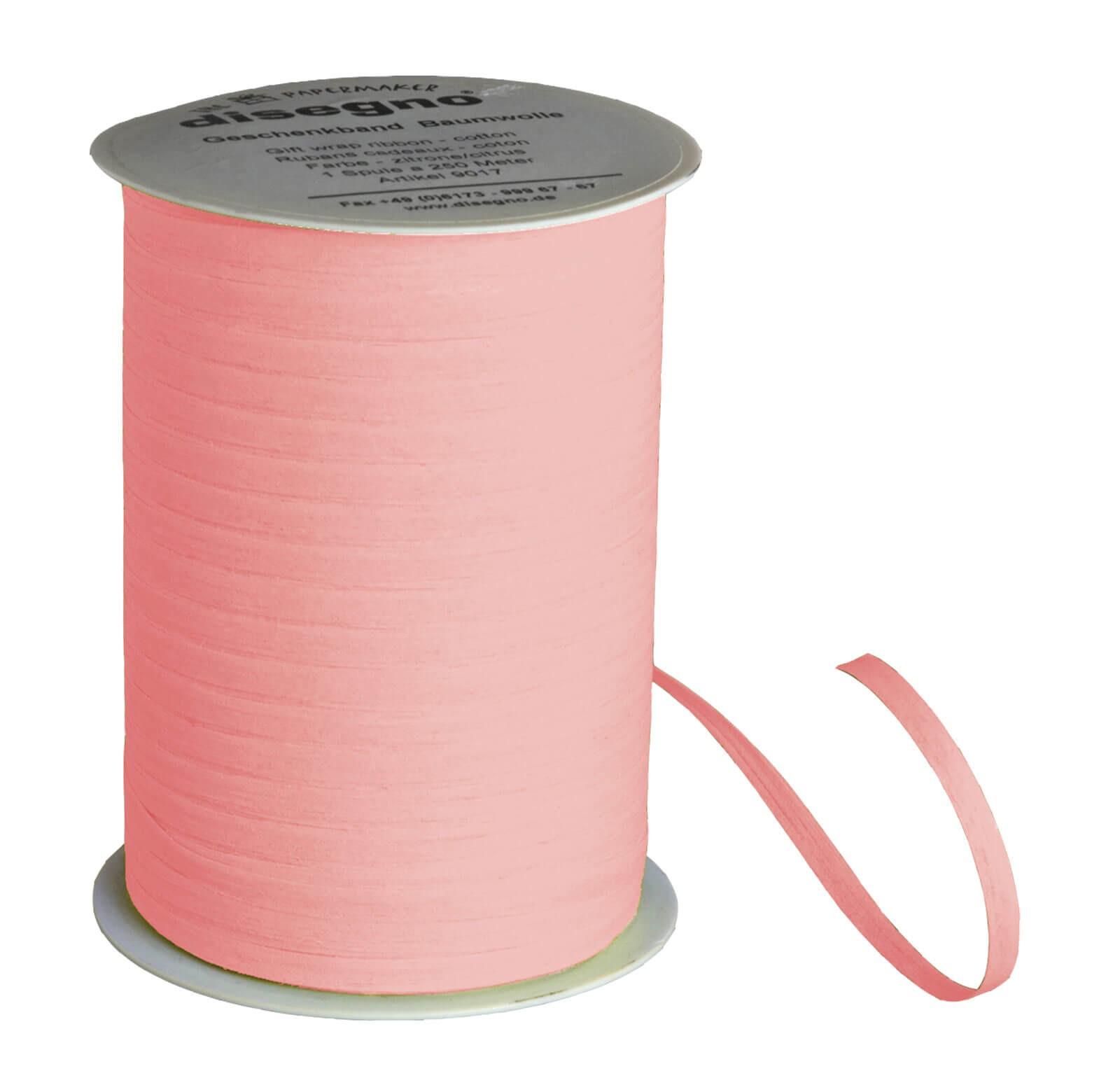 Gift ribbon cotton - light pink