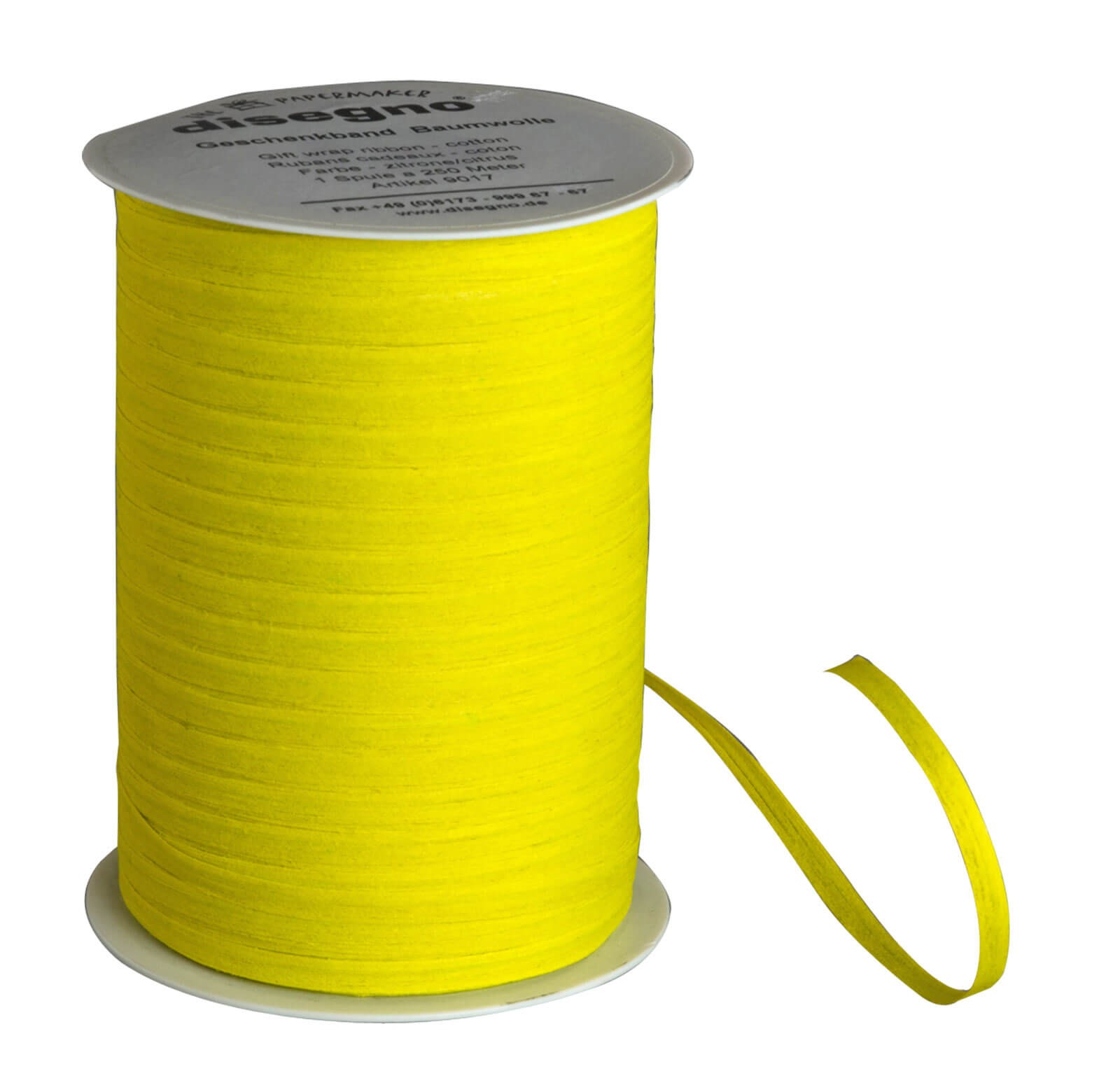 Gift ribbon cotton - lemon