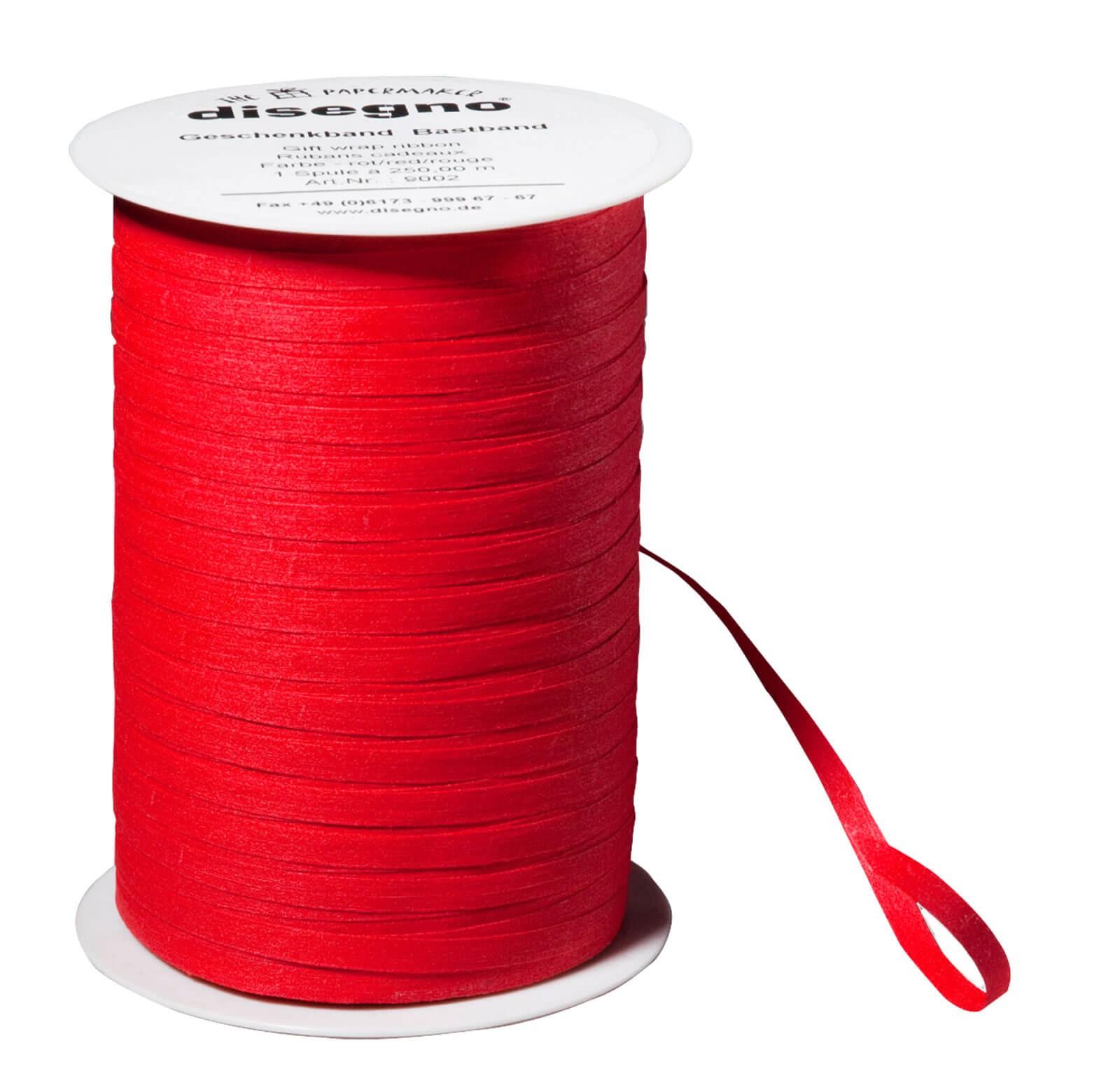 Ruban cadeau coton - rouge