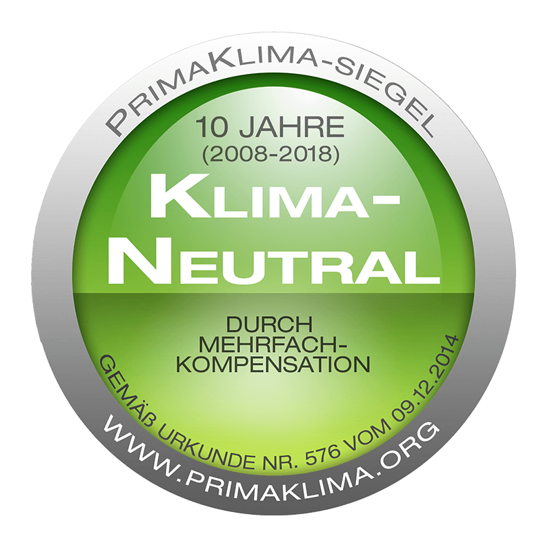 Prima Klima Siegel 2008-2018