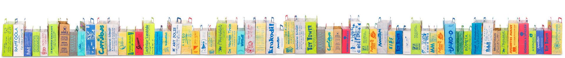 Taschengalerie mit Firmeneindruck