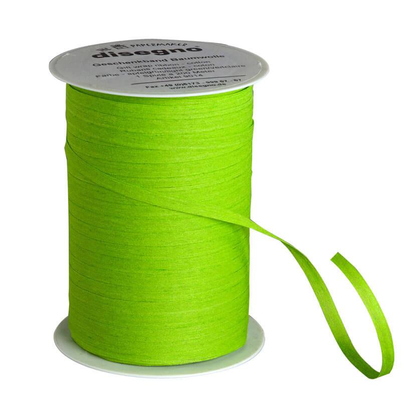 Geschenkband Baumwolle Grün