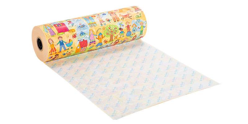 Geschenkpapier mit Firmeneindruck